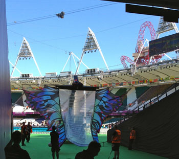 Butterfly Wings for the Paralympic Closing Ceremony, photo by James Booth